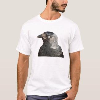 Camiseta Vetor do retrato do pássaro do Jackdaw