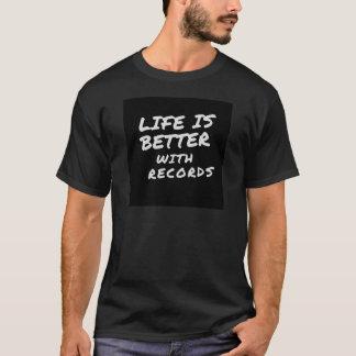 Camiseta Vida com registros