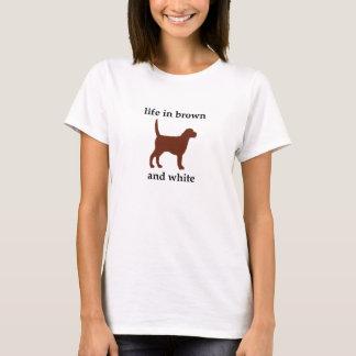 Camiseta Vida em Brown e em branco