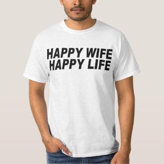 Camiseta Vida feliz da esposa feliz