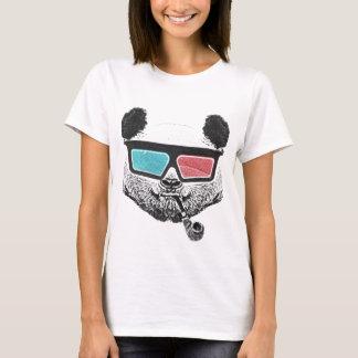 Camiseta Vidros 3-D da panda do vintage