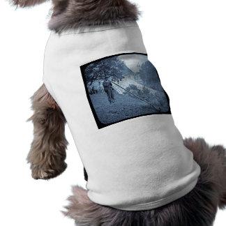 Camiseta Vintage do chifre do cume da corrediça de lanterna