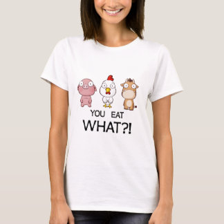 Camiseta Você está comendo que?! - Você come que?! -
