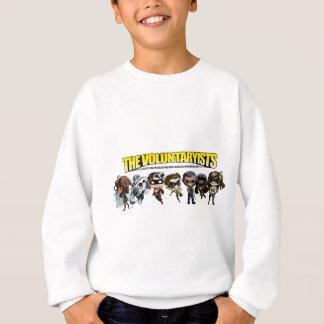 Camiseta Voluntaryist cómico - caráteres de Chibi