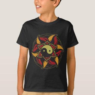 Camiseta Yin Yang Lotus de florescência