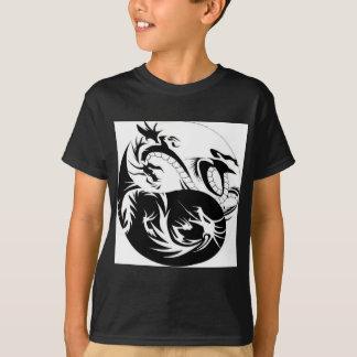 Camiseta Ying Yang dragão
