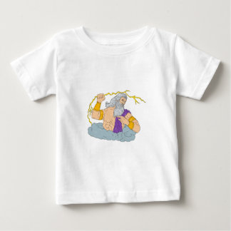 Camiseta Zeus que Wielding o desenho do relâmpago do raio