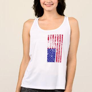 Camisetas a estrela patriótica listra a parte superior do
