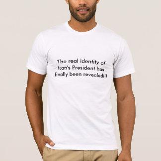 Camisetas A identidade real do presidente de Irã revelada!