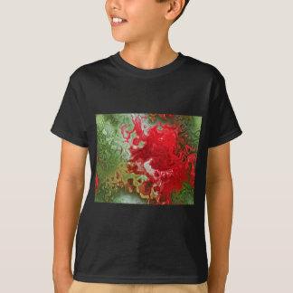 Camisetas Abstrato do vermelho e do verde