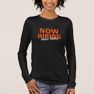 Camisetas Agora o aluguer querido ajuda aplica-se dentro