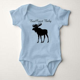 Camisetas Alces Nova Escócia Canadá do bebê da costa leste