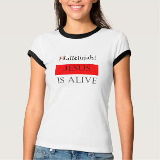 Camisetas Aleluia! Jesus está vivo