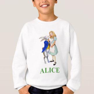 Camisetas Alice e o coelho branco no país das maravilhas
