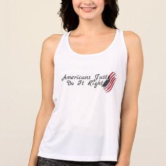 Camisetas americanos apenas endireita listras da estrela da