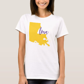 Camisetas Amor LSU da universidade do T do estado de