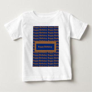 Camisetas Arte azul do ouro do feliz aniversario n por