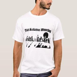 Camisetas As luzes da cidade do sangramento do outono