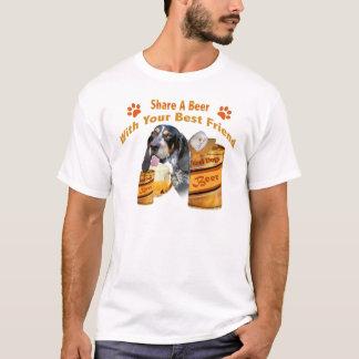Camisetas Azul parte do Bloodhound do tiquetaque umas