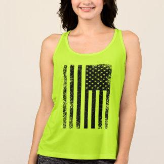 Camisetas Bandeira americana preto e branco afligida