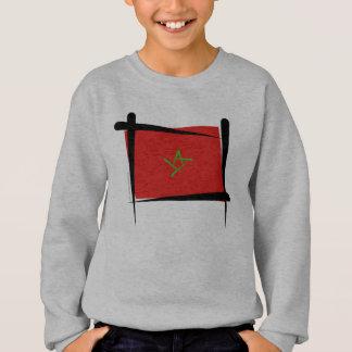 Camisetas Bandeira da escova de Marrocos