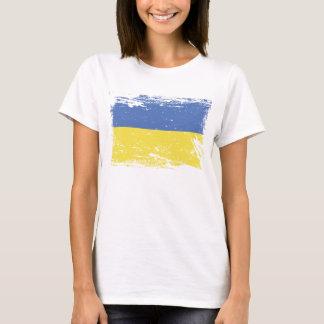 Camisetas Bandeira de Ucrânia do Grunge