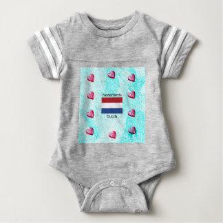 Camisetas Bandeira holandesa e design holandês da língua
