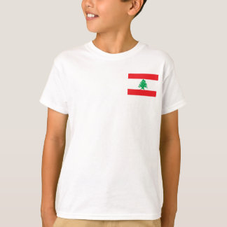 Camisetas Bandeira nacional do mundo de Líbano