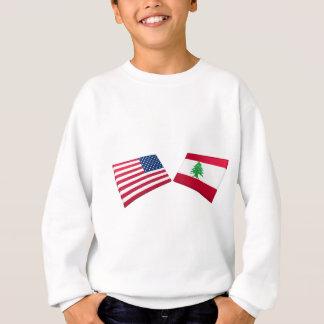 Camisetas Bandeiras dos E.U. & do Líbano