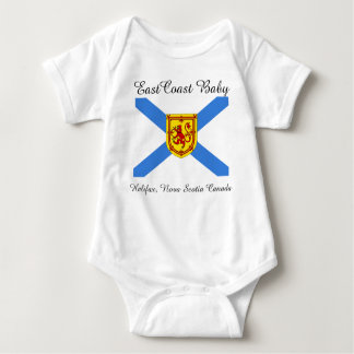 Camisetas Bebê Halifax Nova Escócia Canadá da costa leste