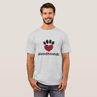 Camisetas Bloodhounds do amor