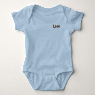 Camisetas Bodysuit do jérsei do bebê de Lian