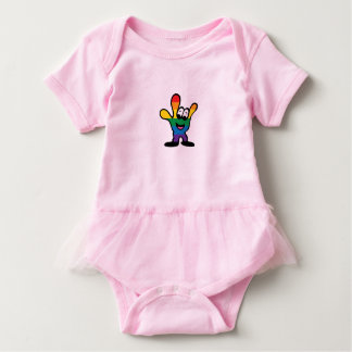 Camisetas Bodysuit do tutu do bebê de ILY