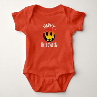 Camisetas Bodysuit feliz bonito do Dia das Bruxas - cara