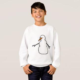 Camisetas Boneco de neve do nariz da cenoura