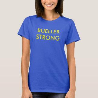 Camisetas Bueller forte, t das mulheres, azul e amarelo