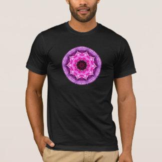 Camisetas Caleidoscópio roxo & cor-de-rosa do ranúnculo