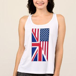 Camisetas Camisola de alças do americano e do desempenho da