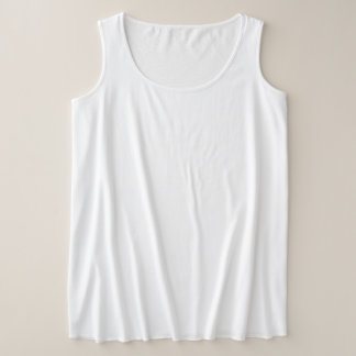 Camisetas Camisola de alças do Mais-Size das mulheres
