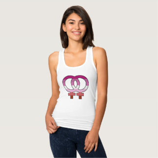 Camisetas Camisola de alças lésbica do símbolo de Venus da