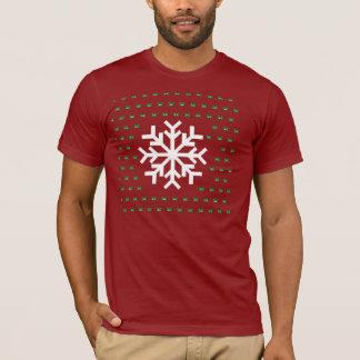 Camisetas Camisola feia do floco de neve
