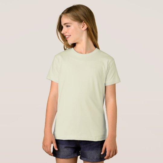 Camiseta infantil orgânica da American Apparel, Natural