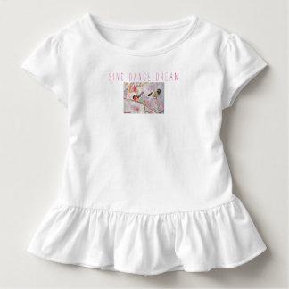 Camisetas Cante a dança pássaros ideais T do plissado da