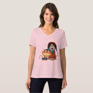 Camisetas Cão e gato bonito e engraçado do hipster