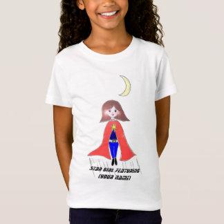 Camisetas Caracterização da menina da estrela [seu nome]