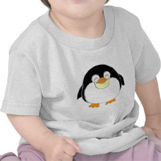Camisetas carnudos do bebê do pinguim