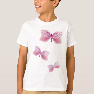 Camisetas Casamento havaiano bonito da flor da borboleta