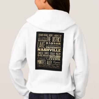 Camisetas Cidade de Nashville da arte da tipografia do
