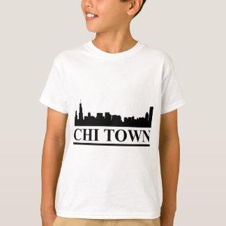 Camisetas Cidade do qui da skyline de Chicago