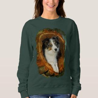 Camisetas Clássico engraçado animal Merle do cão azul de